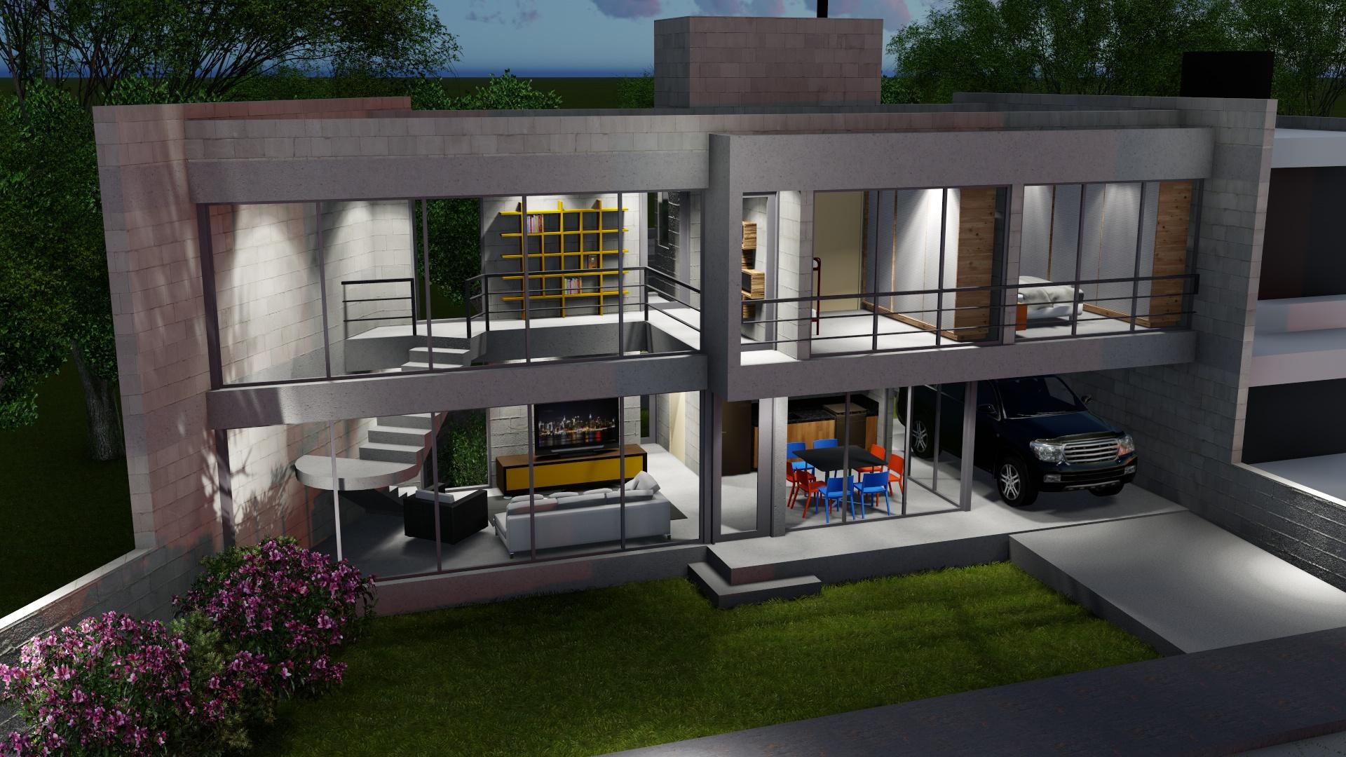 Projeto de casa por Octus Arquitetura em Penha - SC